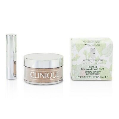 NEW Clinique Blended Face Powder + Brush (03 Transparency; Pre) 35g/1.2oz Womens