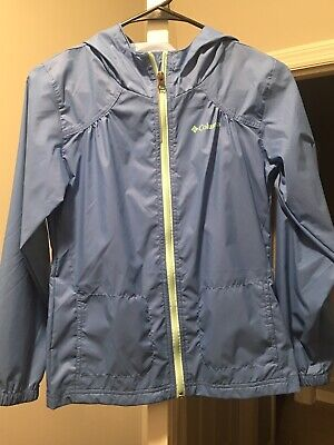 Columbia Girls' Big Switchback II Rain Jacket,Size M