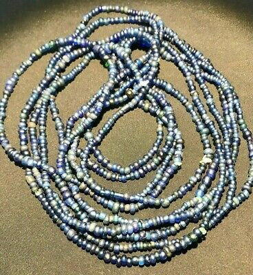 An ancient 5 Pyu glass necklace beads from Burma