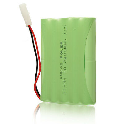 12V 2400mAh AA Battery Pack Ni-MH Rechargeable Batteries for Toys, Cars, Models