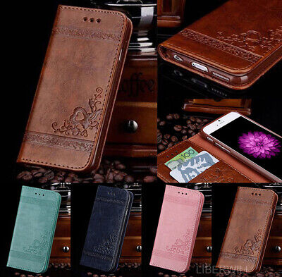 For Samsung S7 S8 S9 Plus Luxury Magnetic Flip Leather Wallet Stand Case Cover