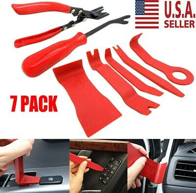 7pcs BODY REMOVING TOOLS & CAR DOOR UPHOLSTERY TRIM CLIP REMOVAL PLIERS PLASTIC