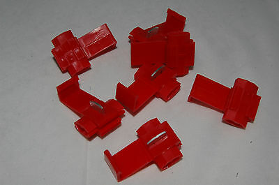 25 x Red Scotch Locks Scotchlocks Electrical Connectors Snaplock Easy Fitting