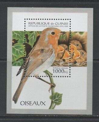 Thematic Stamps Animals - GUINEA REP 1995 BIRDS MS mint