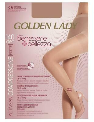 Golden Lady Benessere & Bellezza Collant 140 den Nero Unica, Multicolore