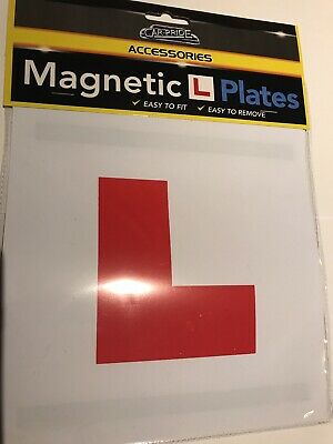 2 x Learner L PLATE NEW DRIVER PLATES - FULL SIZE MAGNETIC- Fast & Free Delivery
