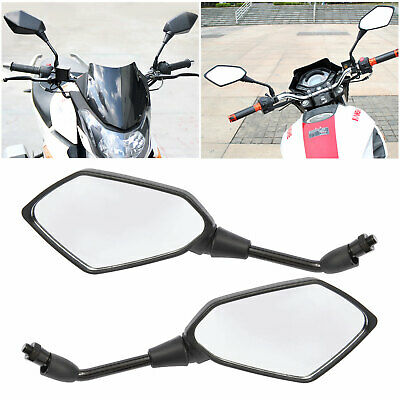 Black Ryde 10mm E-Marked Angled Universal Motorcycle Mirrors