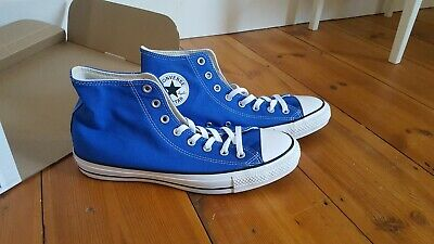 Converse All star Men's Canvas Casual High Top Trainers In Royal Blue UK Size 45