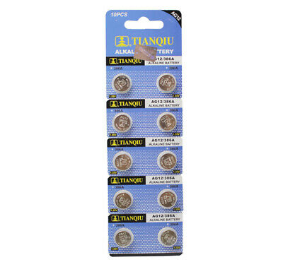 AG12 Button/Coin Cell 366A LR43 LR1142 1.55V Single Use Alkaline Watch Battery