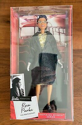 Barbie Inspiring Women Rosa Parks 11.5 inch Doll New Mattel In Stock Hand