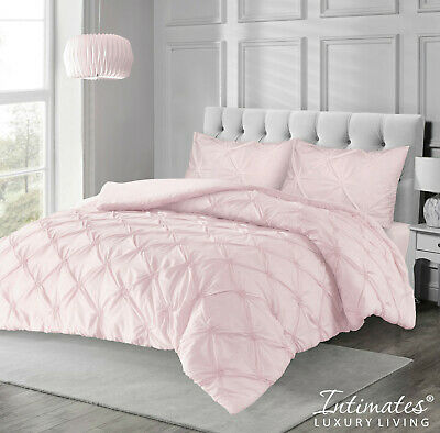 Pinktuk Ruffle Texture Duvet Cover Bedding Set Pink Colour New and Packed