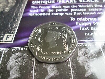 2020 Gibraltar Penny Black 50p Coin Proof Finish MINT CONDITION Sealed