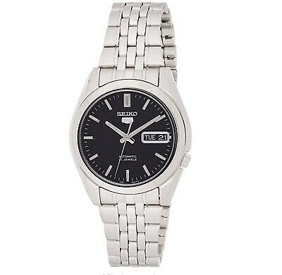 Seiko 5 Automatic Black Dial Stainless Steel Mens Watch SNK361K1 RRP £169