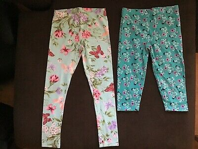 Girls 7/8 Floral Leggings 2 pair Childrens place / Costco