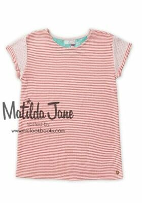 Matilda Jane Friends Forever Mariana Striped Tee Top Tween size 12 NWT