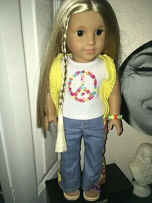 American Girl Julie Doll Beforever Hippie Beforever Meet Outfit