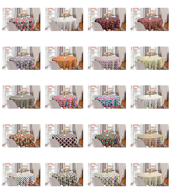 Ambesonne Colorful Scene Round Tablecloth Table Cover for Dining Room Kitchen