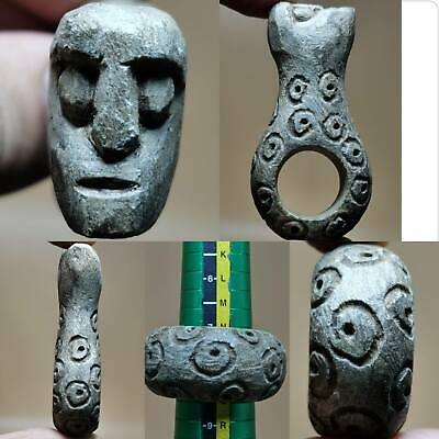 Backtrian Old Wonderful Stone Ring With Face Head  # 128