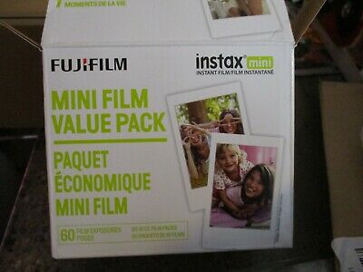 Authentic FujiFilm Instax Mini Film Value Pack - 60 Exposures NEW Open Box