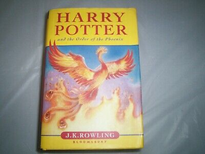 Harry Potter and the order of the phoenix  Bloomsbury FIRST EDITION J K Rowling