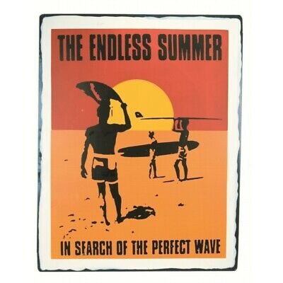 Endless Summer Surfing Large Tin Sign