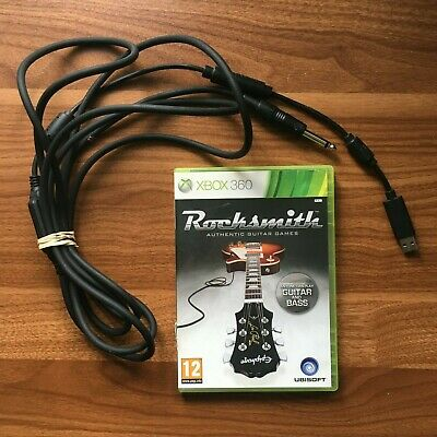 Rocksmith & Real Tone Cable(Xbox 360) (Cleaned/Tested/Works)