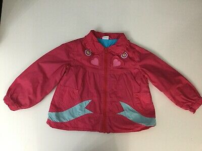 Oilily Girls Baby Jacket Coat Pink Age 3 Years Long Sleeve Collared