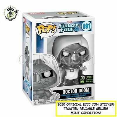 Doctor Dr Doom Marvel Funko Pop 2020 Eccc Official Sticker! Trusted Seller! Mint