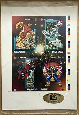 Marvel Universe Series 3 Limited/Numbered 4-Card Promo Sheet - Impel 1992