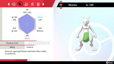 ✨SHINY✨ 6IV UNRELEASED EVENT MEWTWO Pokémon Sword & Shield (FAST DELIVERY)