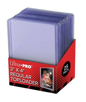 "Ultra Pro 35 Point 3"" x 4"" Sports Cards Regular Toploader 25 Count. New/Sealed"