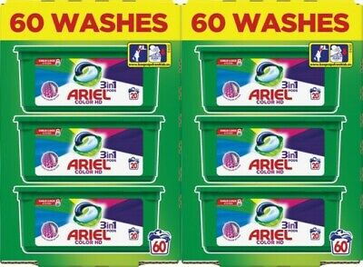 Ariel 3-in-1 Colour HD Washing Pods Liquid Gel Laundry Capsules - 120 Washes