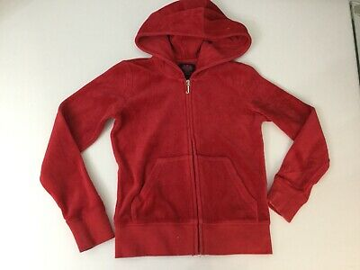 Juicy Couture Girls Red Velour Jacket Jumper Age 6-7 Years Long Sleeve