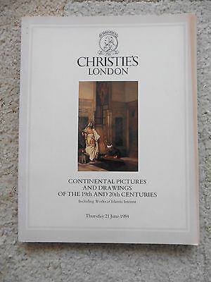 Christie's Catalogue, Continental Pictures, 19th 20th Century, 21st Jun 1984