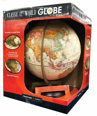 """Replogle 12""""/30cm World Globe ideal for home school or office Brown"""