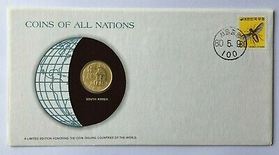 PNC117) South Korea 1979 Coins of All Nations Limited Coin & Stamp PNC/FDC