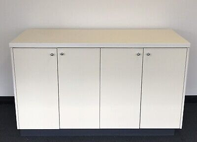 custom built storage stationery cupboard cabinet printer office credenza white