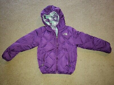 The North Face 550 Fill Down Winter Jacket Coat Girls XS Extra Small 6 Purple