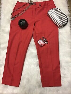 Style&Co Womens Coral Casual Dress Pants size 12 Stretch Front Zip Straight Legs
