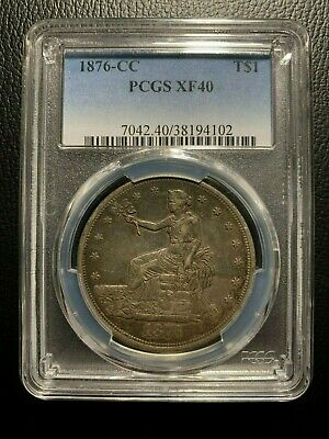 1876 CC Trade Dollar $1 One PCGS XF40 Extra Fine Silver Type Carson City