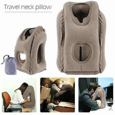 Inflatable Travel Pillow Portable Flight Airplane Cushion Office Neck Head Rest
