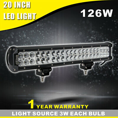 20inch 126W CREE LED Light Bar Spot   Flood Driving Lamp For Offroad 4WD Truck