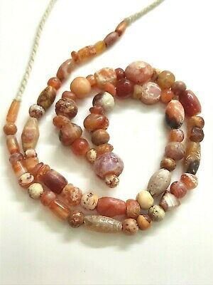 ancient Carnelian indus BEADS FROM MESOPOTAMIA necklace