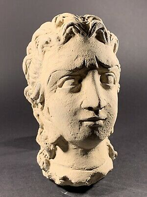 Incredable Ancient Roman Terracotta Statue Bust Head Of Diana - Circa 100-300Ad