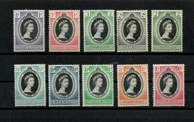 COMMONWEALTH 1953 CORONATION MINT STAMPS. A NICE SELECTION Cat.value £9.95