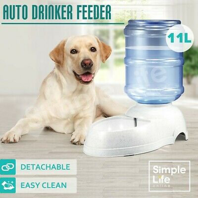 Automatic 11L Pet Dog Cat Puppy Water Dispenser Feeder Bottle Bowl Dish Drinking