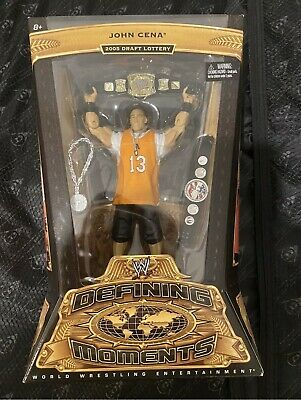 WWE John Cena Defining Moments 2005 Draft Lottery Mattel Wrestling Figure RARE