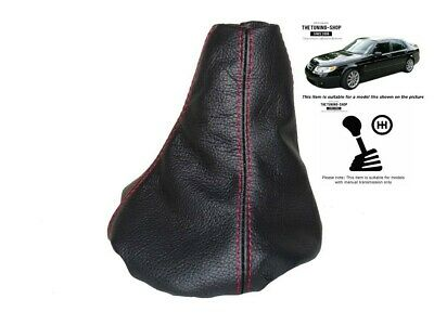 Gear Gaiter For Saab 9-5 1997-2010 Leather Red Stitching