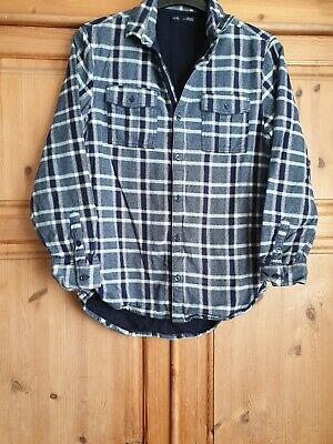 Boys Age 15 Checked Blue Shirt From Next Vgc Used  Worn once