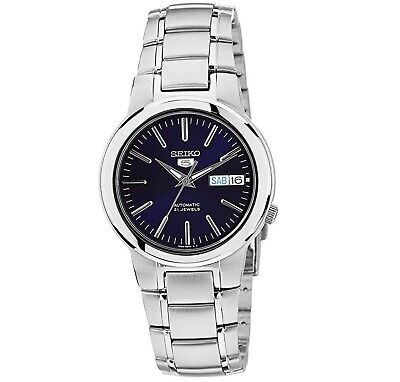 Seiko 5 Automatic Blue Dial Stainless Steel 37mm Mens Watch SNKA05K1 RRP £169
